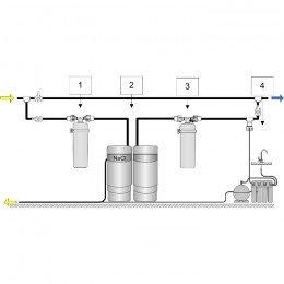 Умягчитель Аквафор WaterMax AKQ  + Викинг 2 шт. + ОСМО-Кристалл 50 исп.4 + Соль 2 мешка