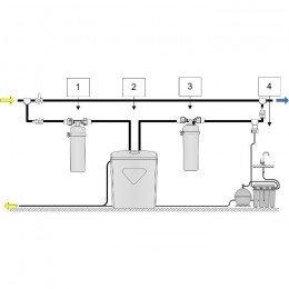 Умягчитель Аквафор WaterBoss 700 + Викинг 2 шт. + ОСМО-Кристалл 50 исп.4 + Соль 2 мешка