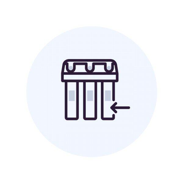 Установка  фильтра  колонного типа 14х54